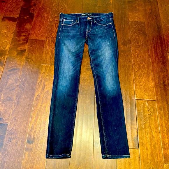 Express Dark blue skinny jeans